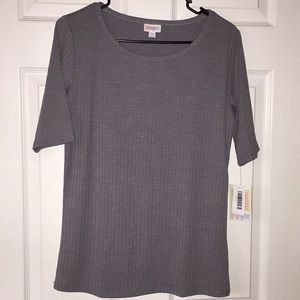 LuLaRoe grey shirt